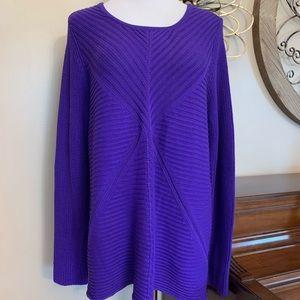 NWT DANA BUCHMAN Size XL Purple Sweater